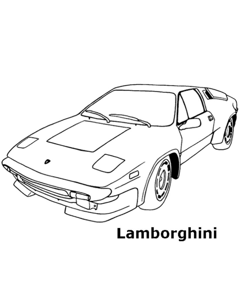 Old Lambo Coloring Page