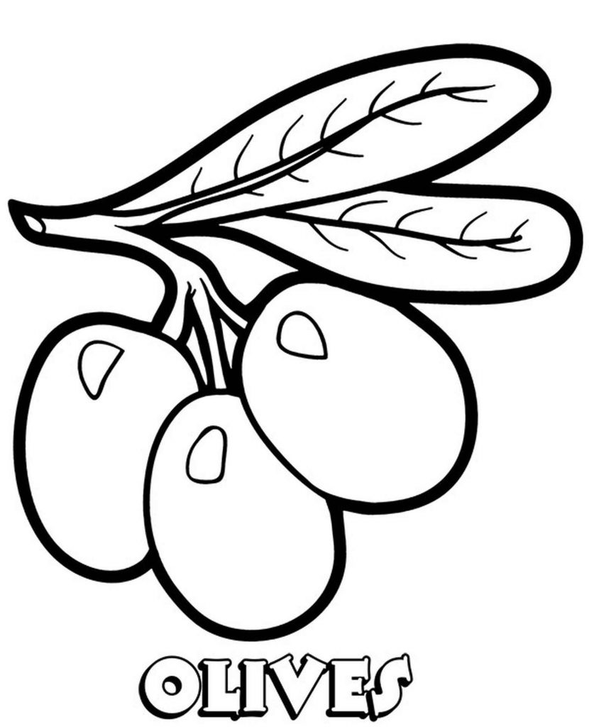 Olives Coloring Page