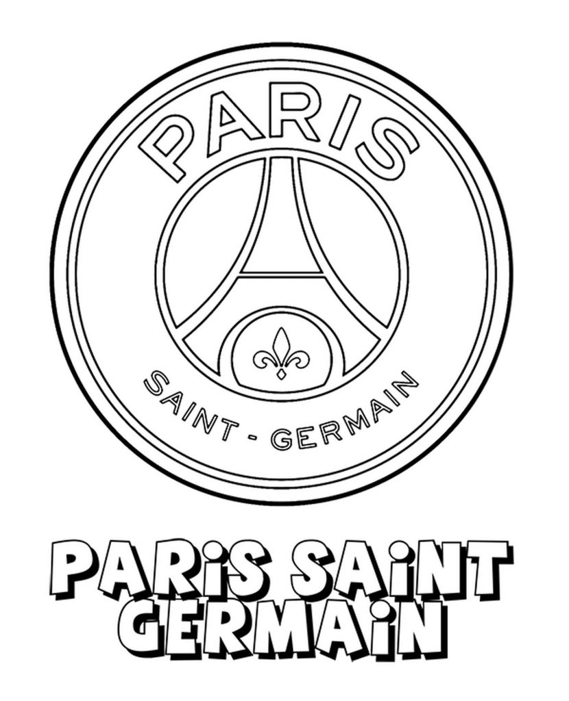 Paris Saint Germain Logo Coloring Page