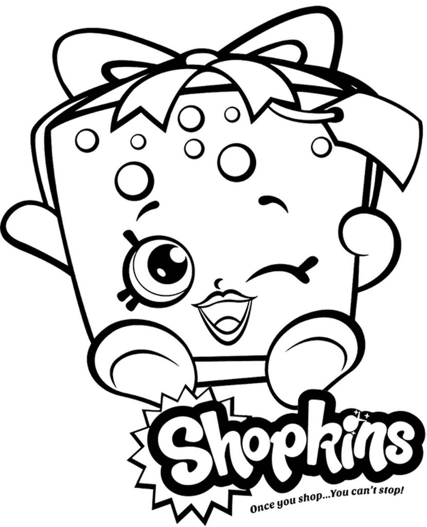 Party Gift Shopkins Coloring Page