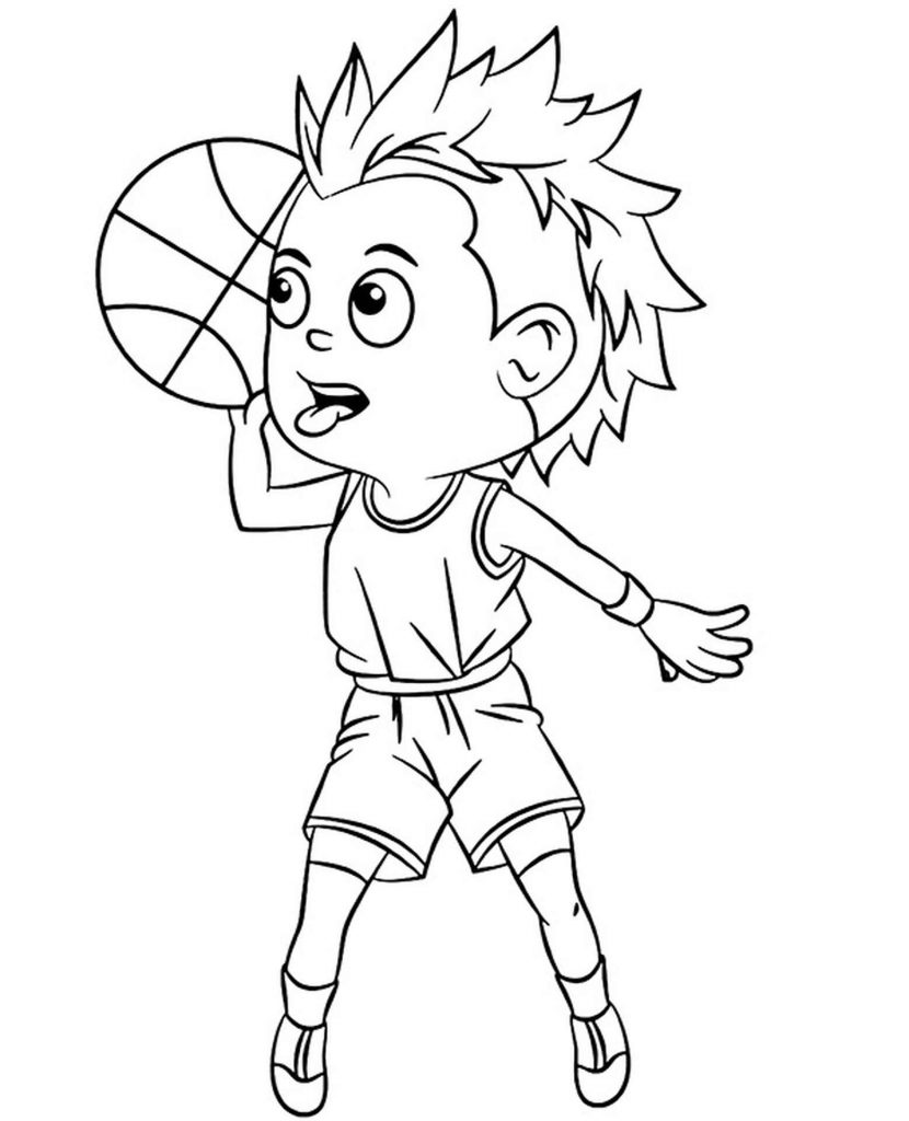 Passing The Ball Coloring Page