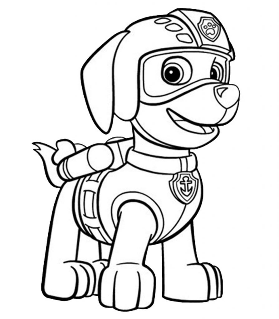 Paw Patrol Zuma Coloring Sheet