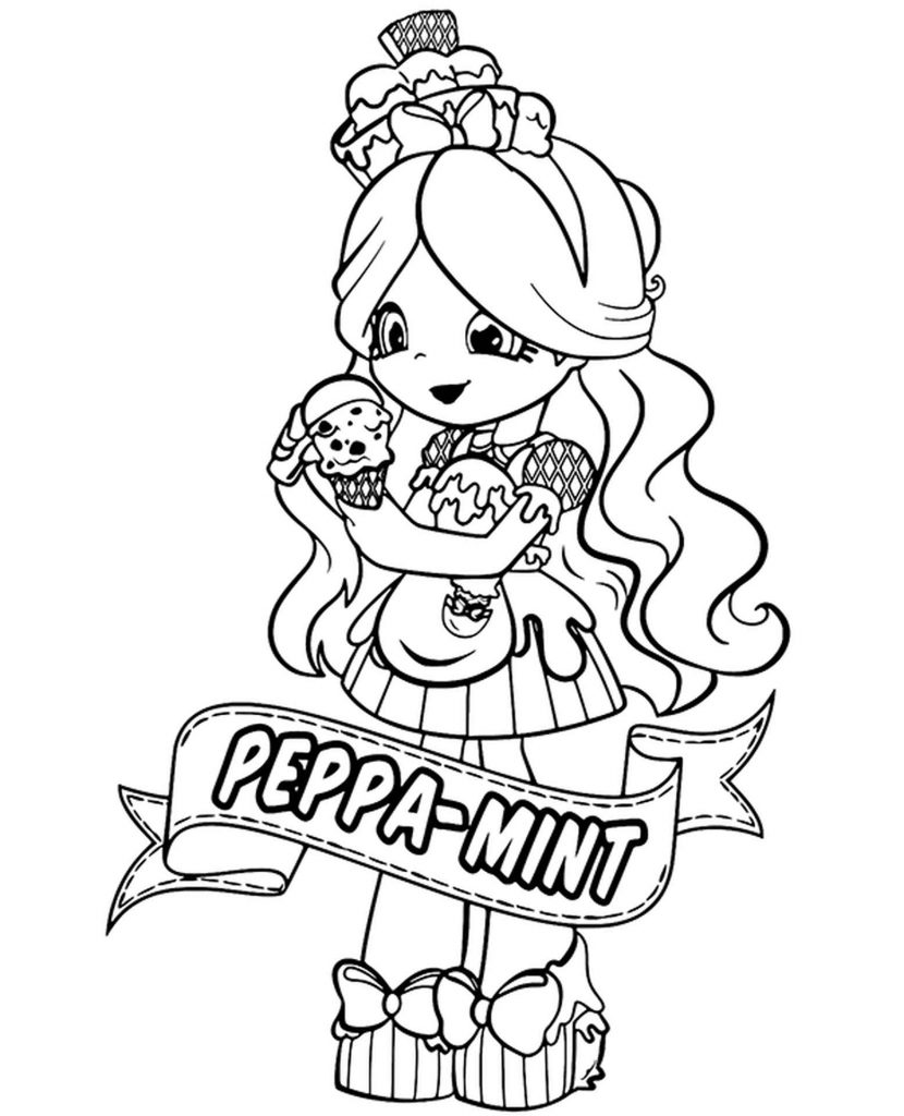 Peppa Mint Shopkins Coloring Page