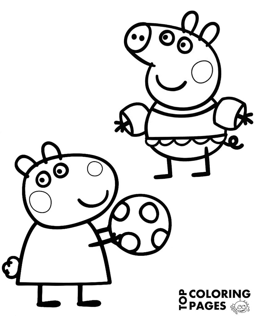 Peppa Pig And Susie Are Playing