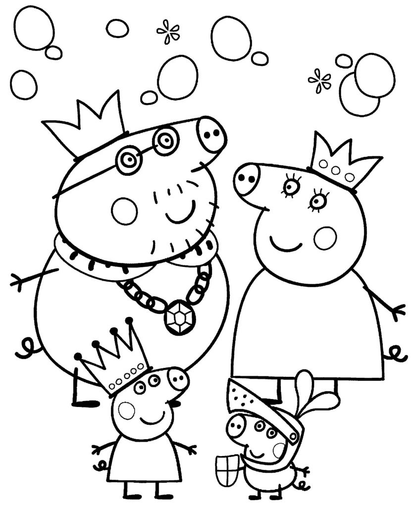 Peppa Pig Family In Costumes Of Royal Families