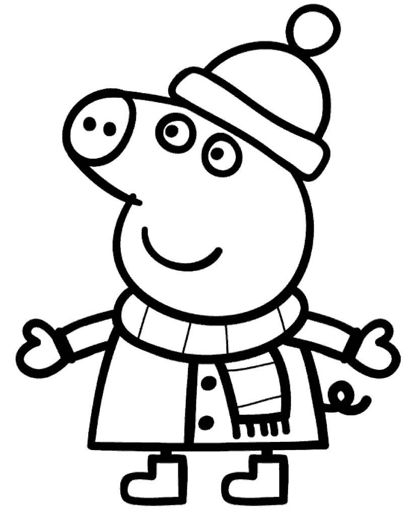 Peppa Pig In Winter Clothes