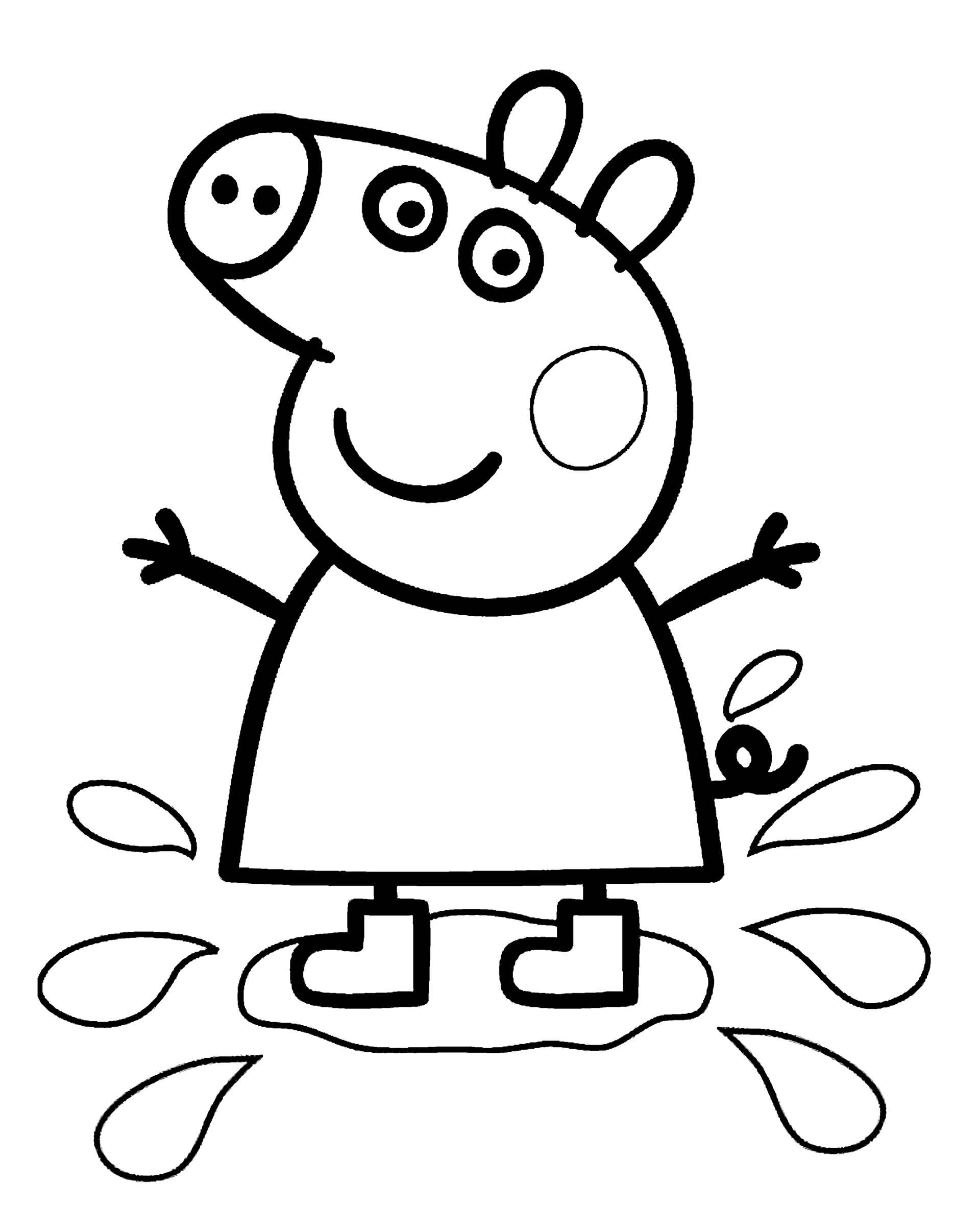 Peppa Pig Jumping On A Puddle
