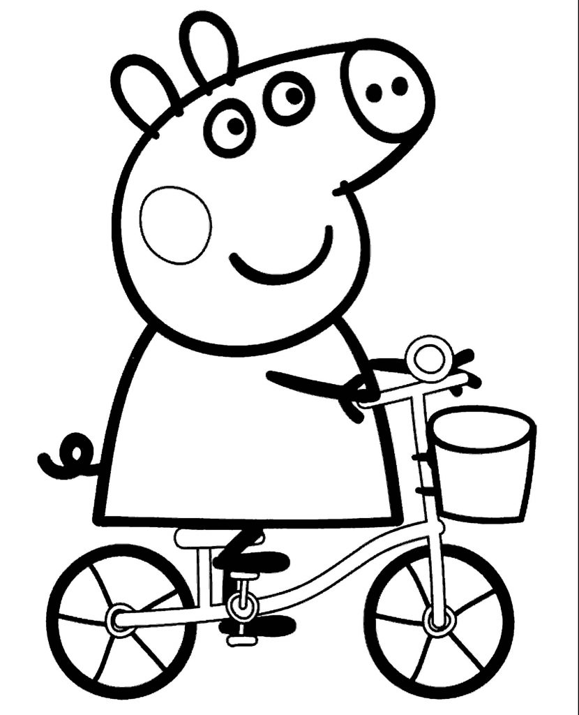 Peppa Pig Riding A Bicycle