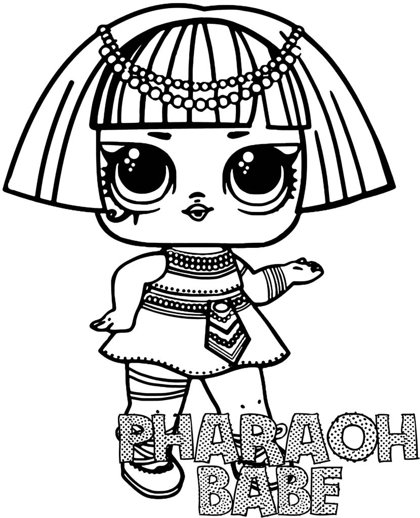 Pharaoh Babe Doll From L.O.L. Suprise Coloring Page