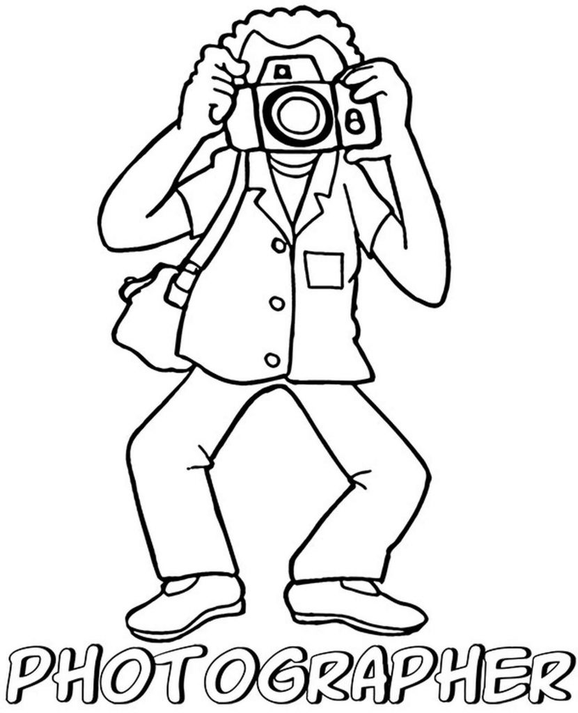Photographer Coloring Sheet