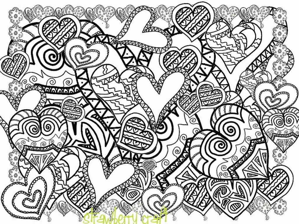 Plenty Of Hearts To Color For Adults