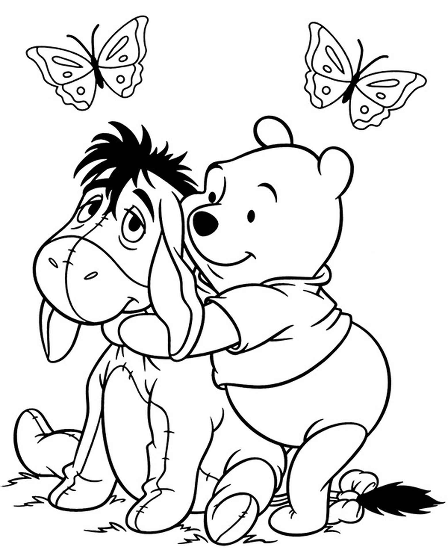 Pooh And Eeyore Coloring Page