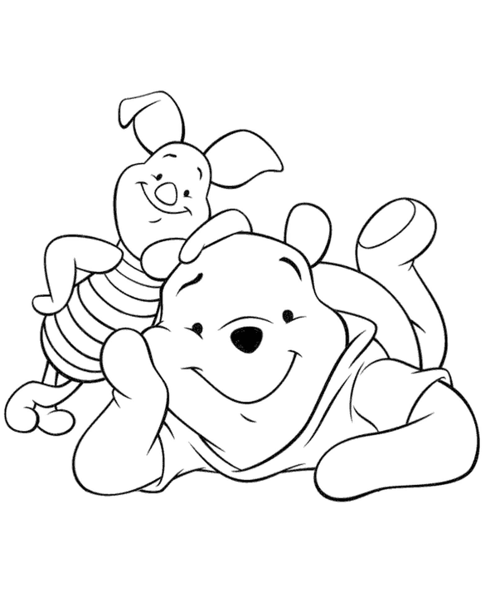 Pooh And Piglet Coloring Book
