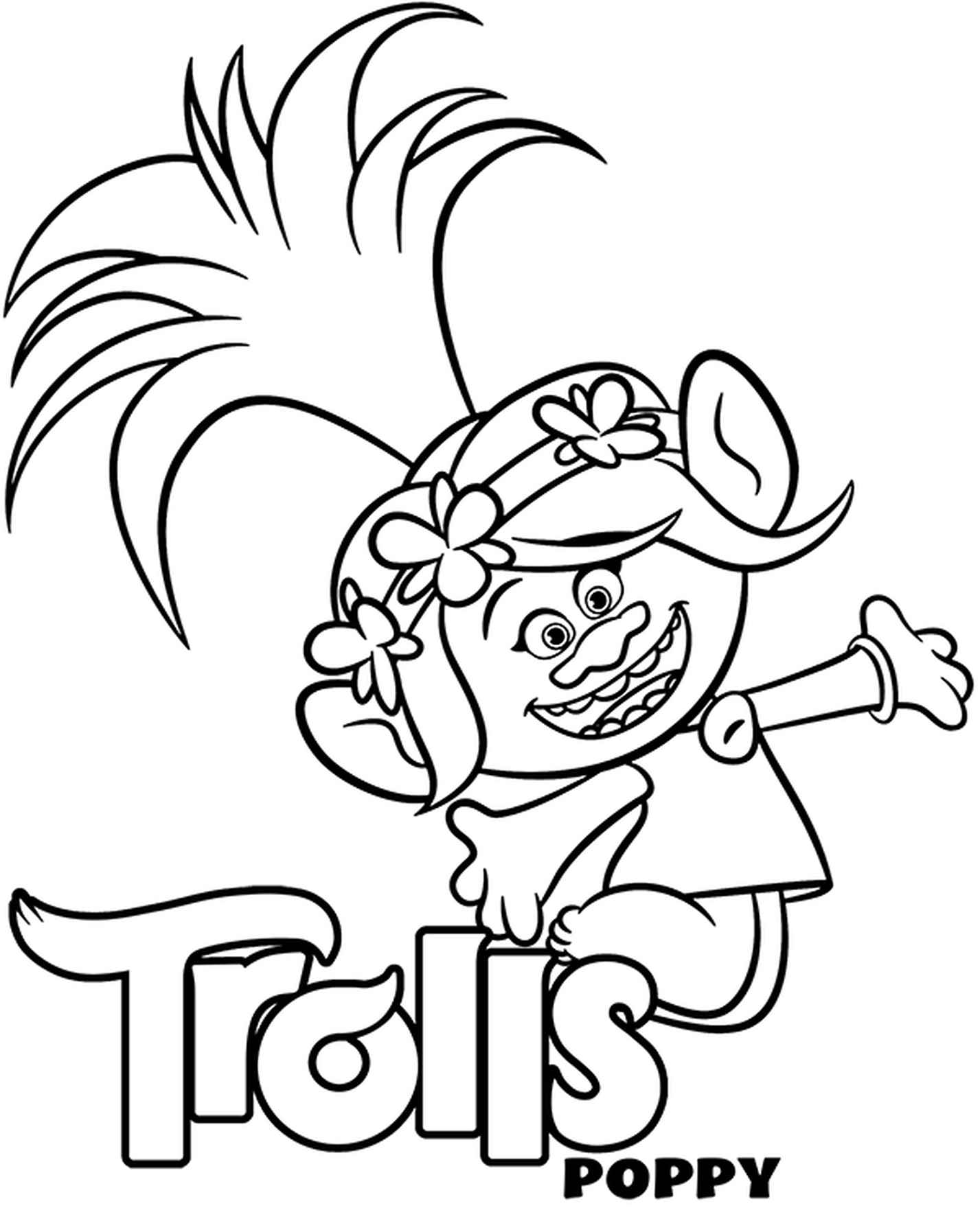 Poppy And Trolls Logo