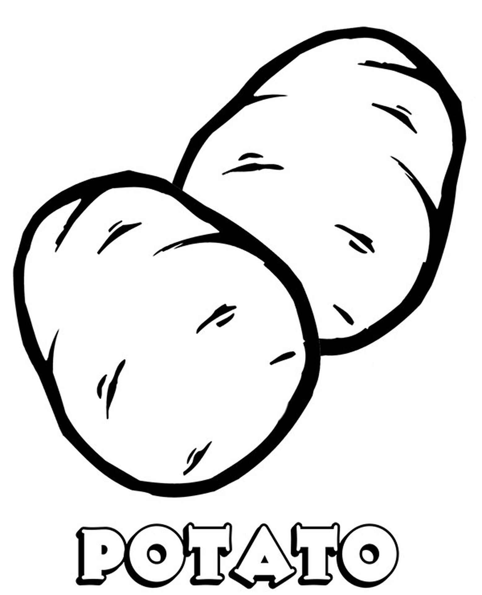 Potatoes Coloring Page