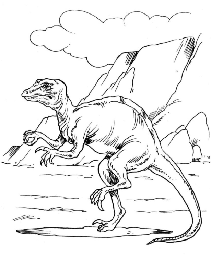 Prehistoric Reptile Coloring Page