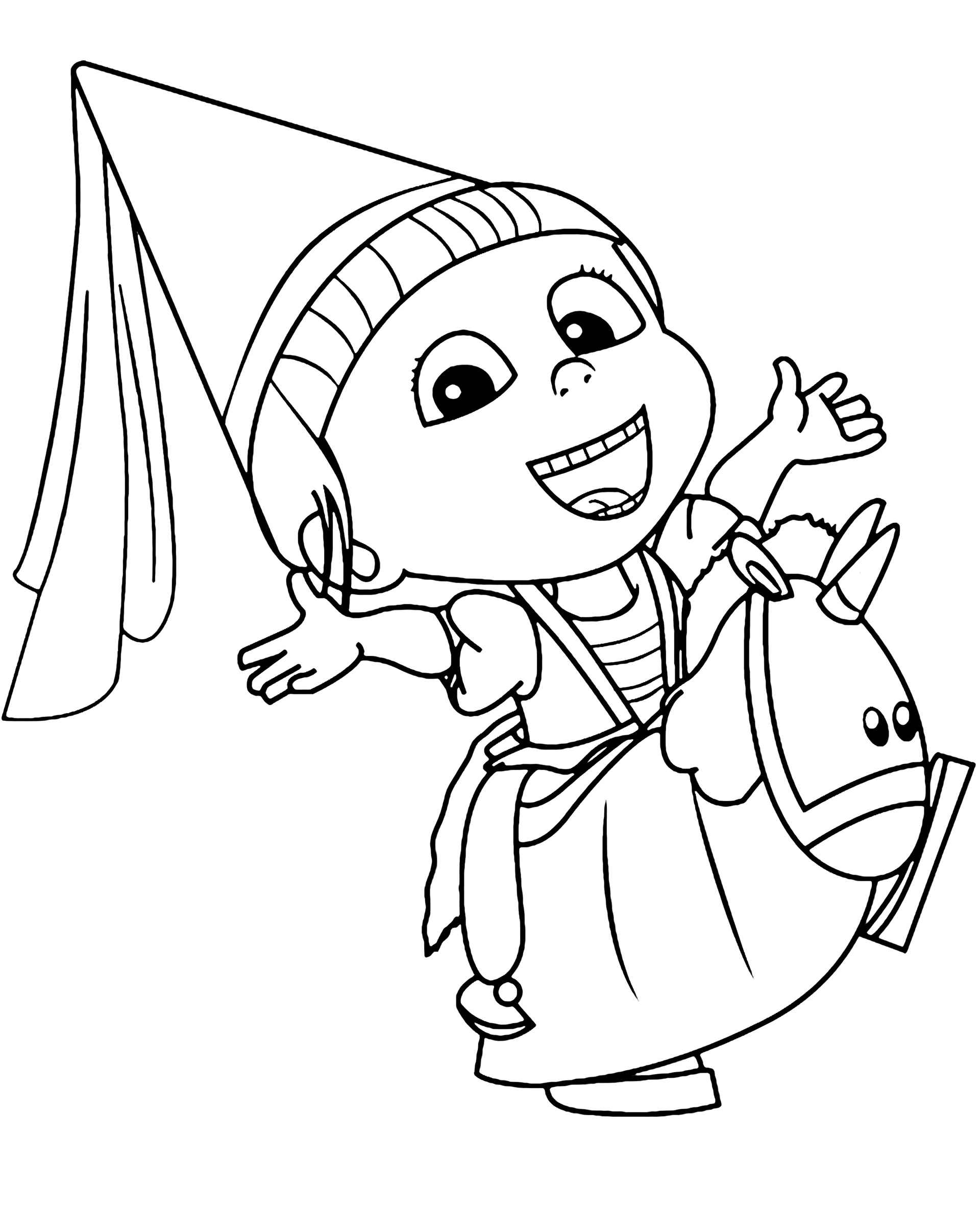 Princess Agnes From Minions Coloring Page