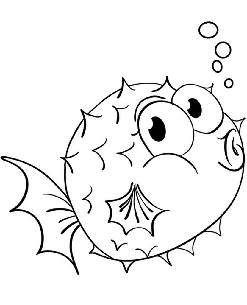 Puffer Fish Coloring Picture