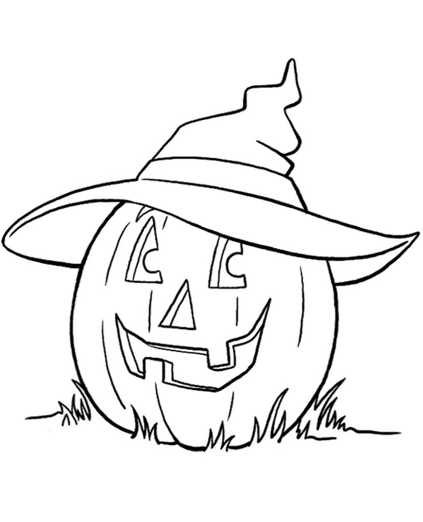Pumpkin On Halloween Coloring Page