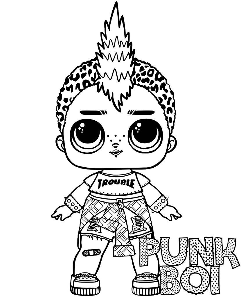 Punk Boi Doll From L.O.L. Suprise Coloring Page