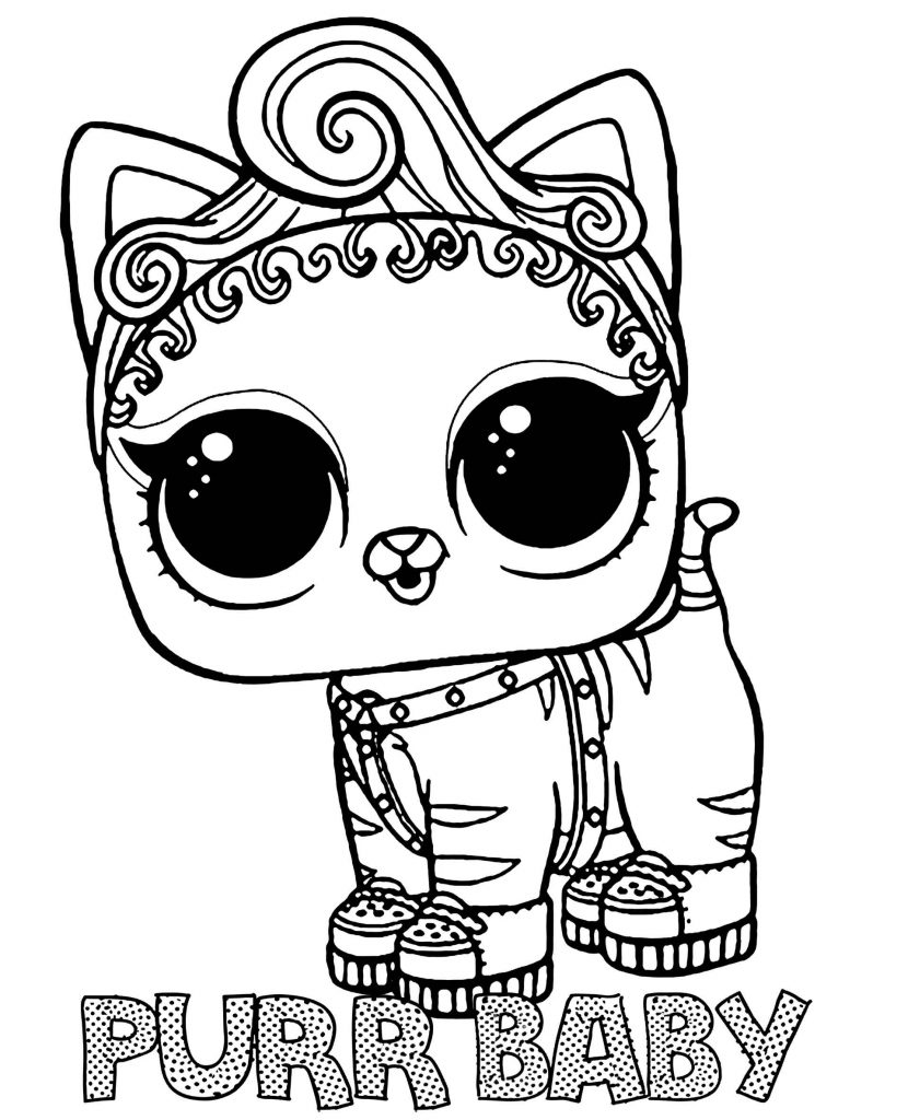 Purr Baby Doll From L.O.L. Suprise Coloring Page