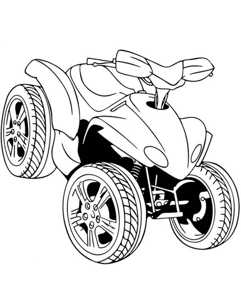 Quad For Kids Coloring Page