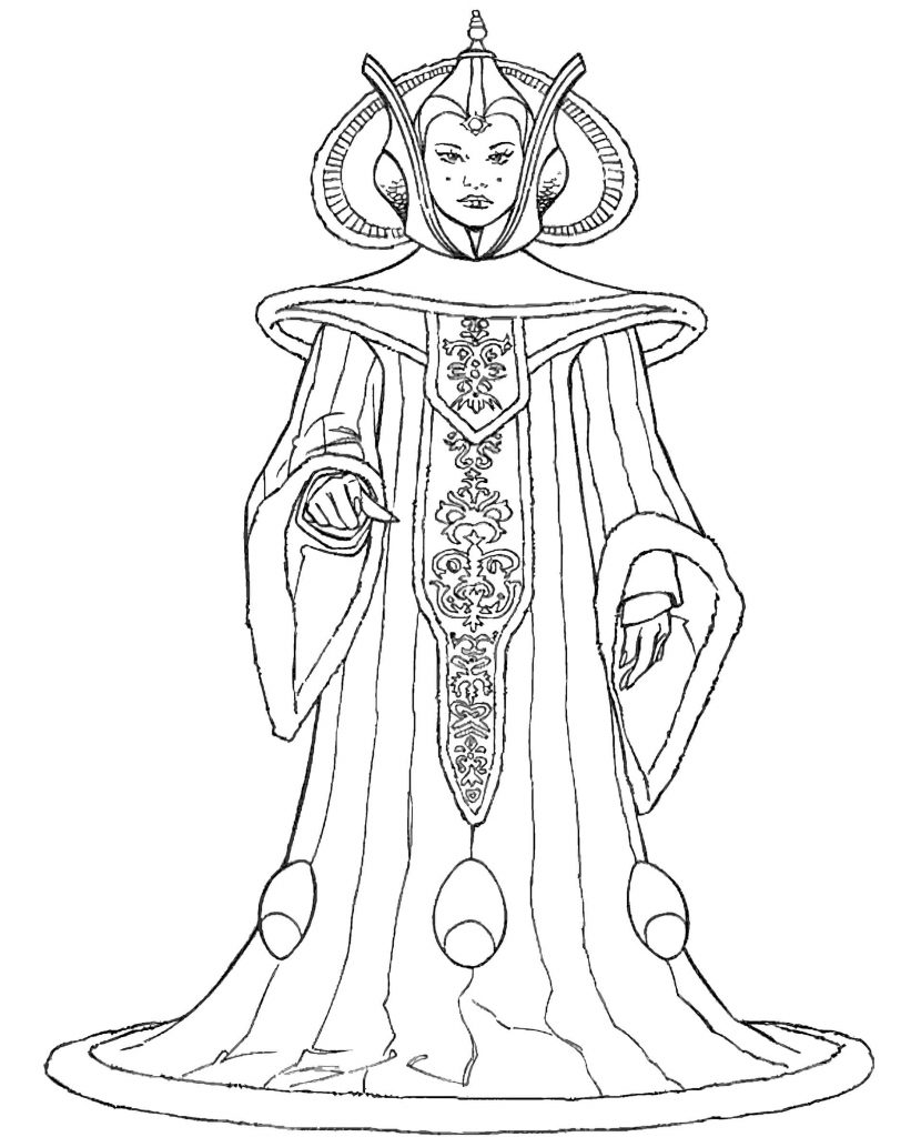 Queen Amidala From Star Wars Coloring Page
