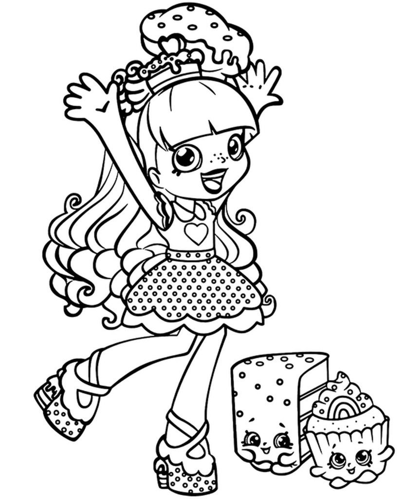 Rainbow Kate Shopkins Coloring Page