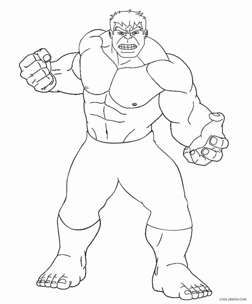 Ready To Fight Hulk Coloring Page