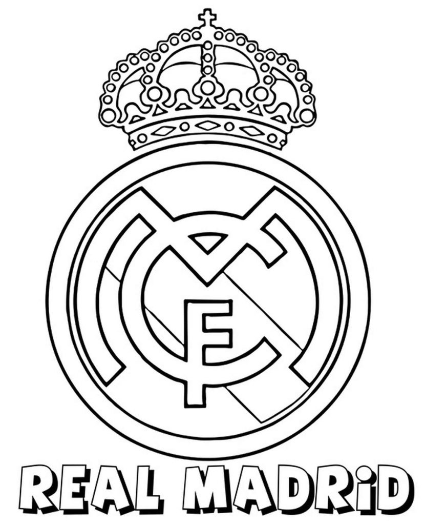 Real Madrid Coloring Logo Coloring Page