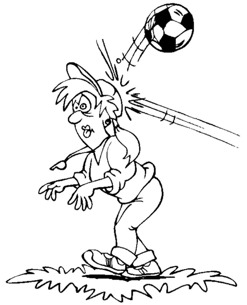 Referee And Football Injury Coloring Page
