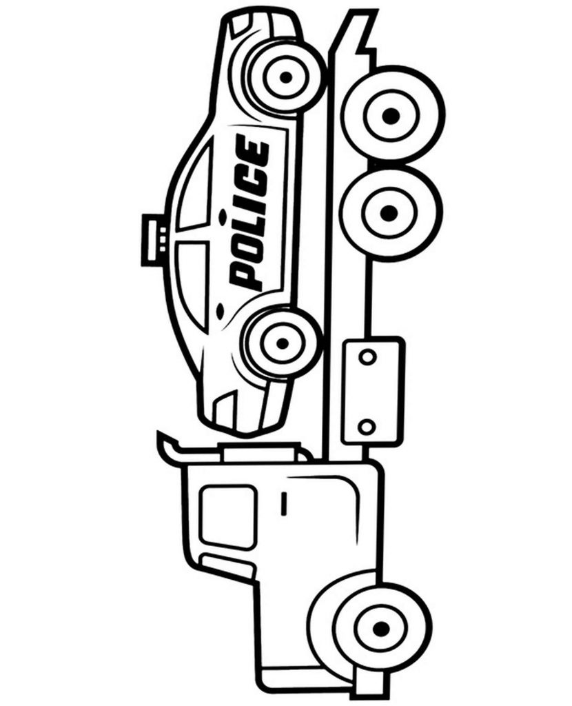 Roadside Assistance Vehicle Coloring Page