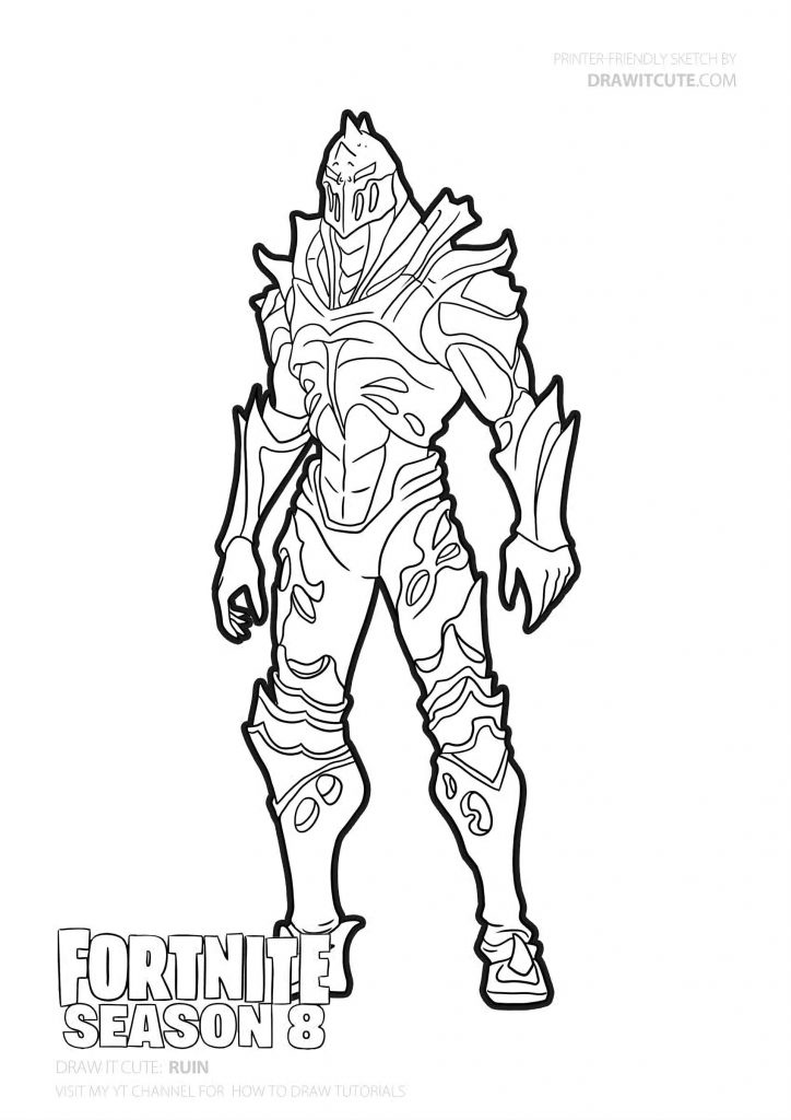 Ruin Skin From The Game Fortnite Coloring Pages