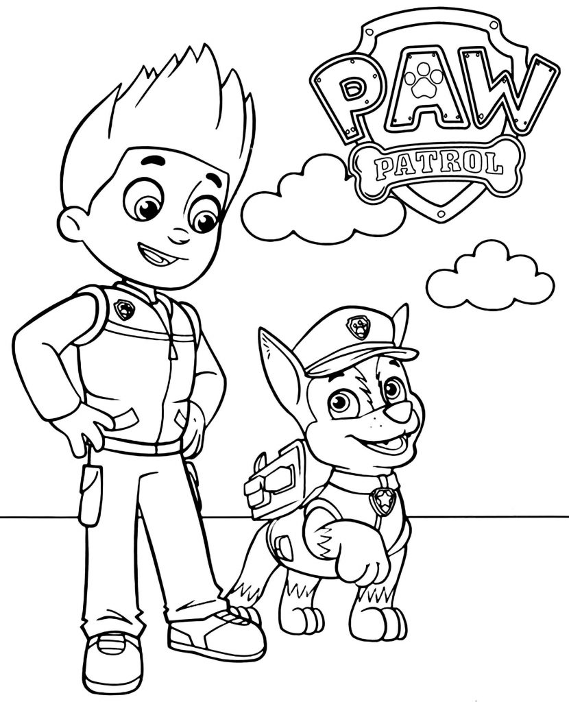 Ryder And Chase From Paw Patrol Together