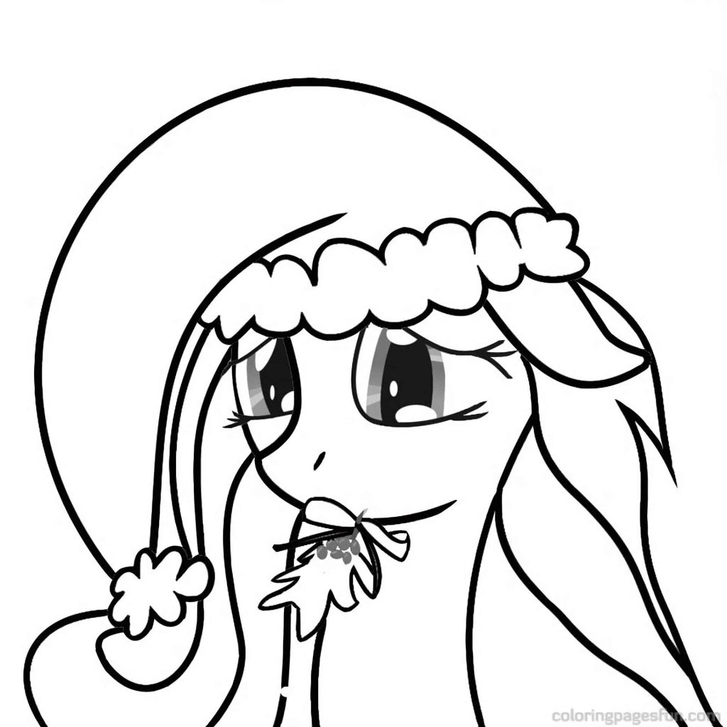 Sad Christmas Pony Fluttershy Coloring Pages