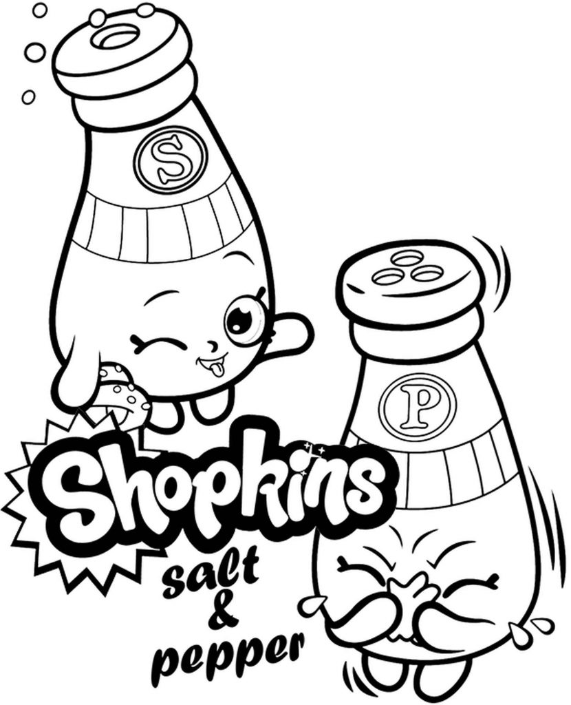 Salt And Pepper Coloring Sheet