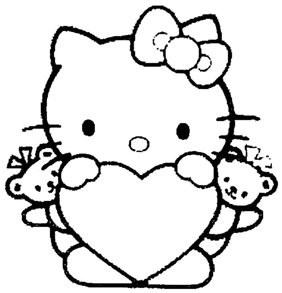 School Hello Kitty Back To School Coloring Pages