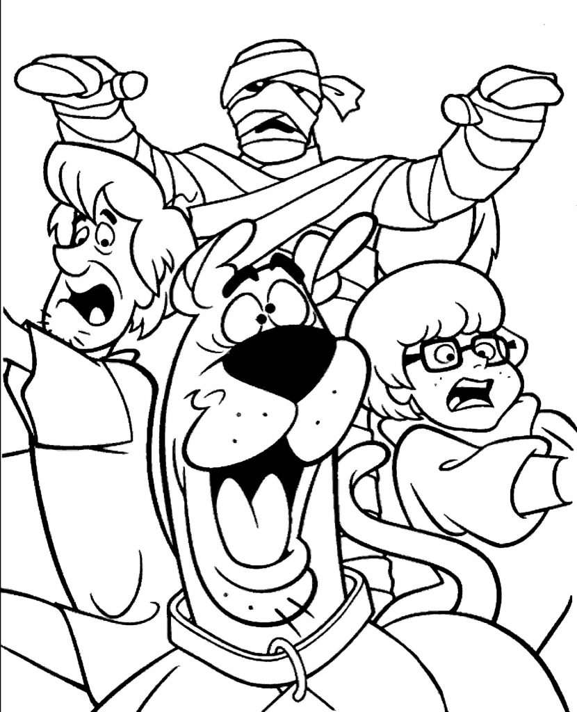 Scooby Doo And Mummy Coloring Books