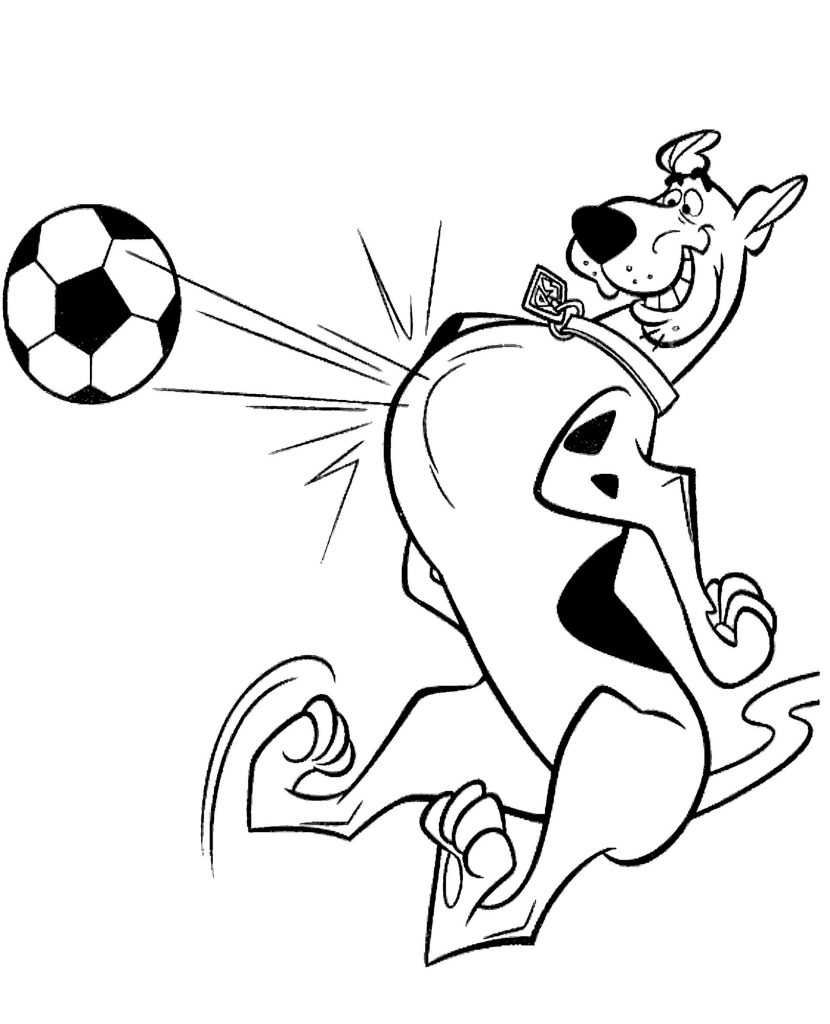 Scooby Doo As A Football Player