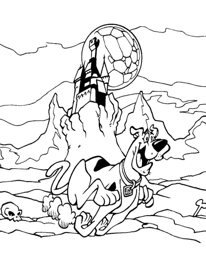 Scooby Doo Coloring Picture Castle