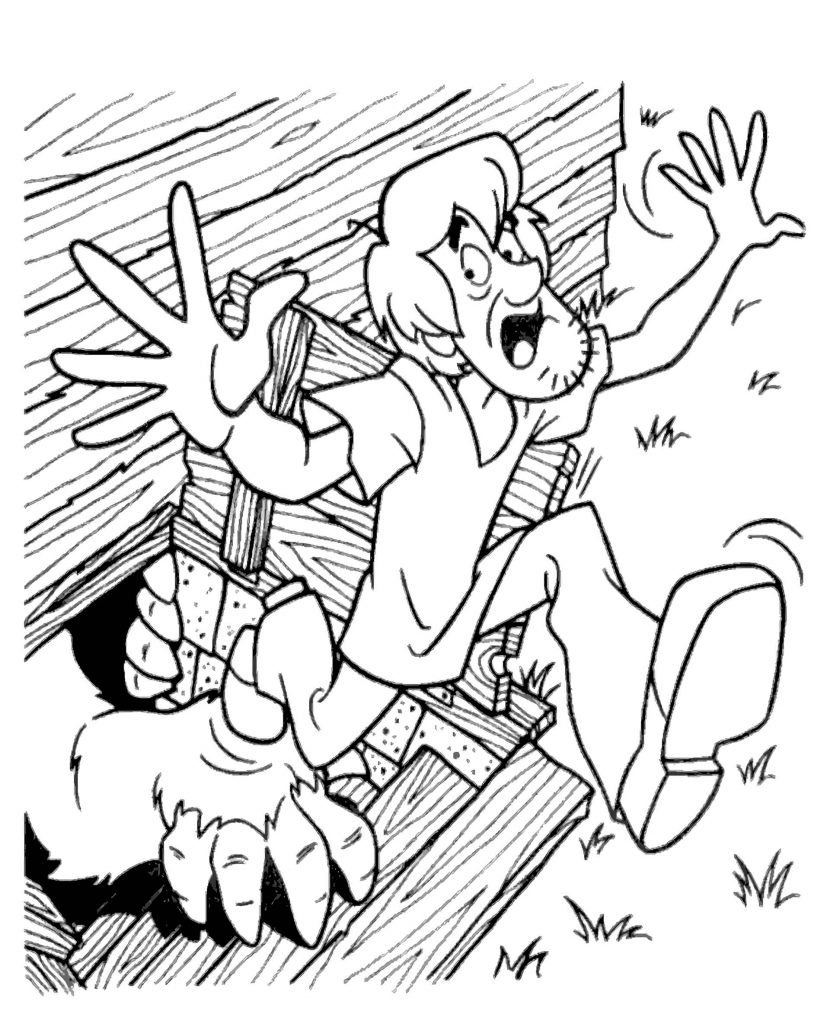 Scooby Doo Coloring Picture Shaggy