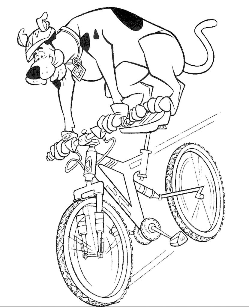 Scooby Doo On Bike Coloring Book