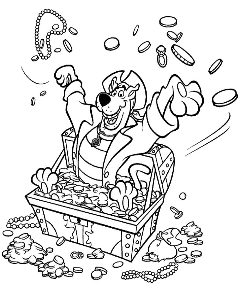 Scooby Doo Pirate Coloring Page