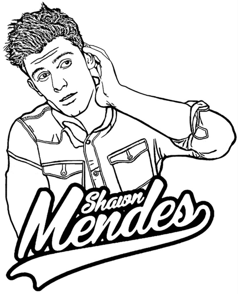 Shawn Mendes Coloring Page