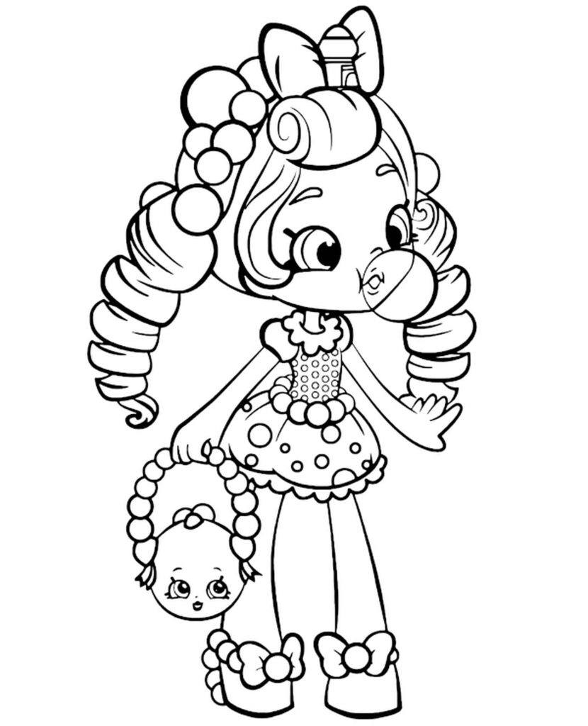 Shoppie Doll Shopkins Coloring Page