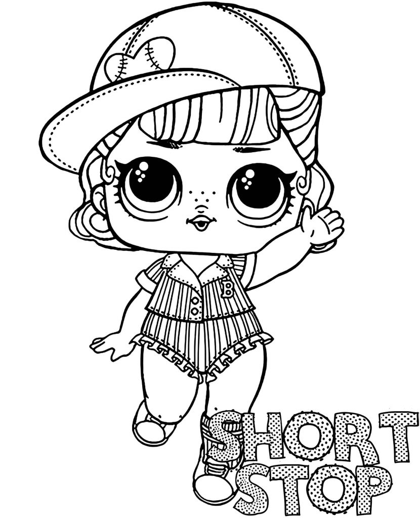 Short Stop Doll From L.O.L. Suprise Coloring Page