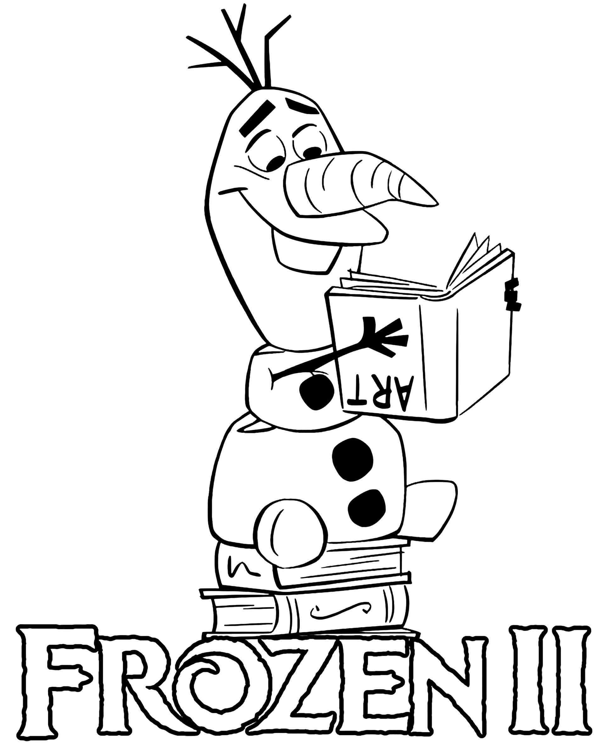 Silly Olaf From Frozen 2 Coloring Page