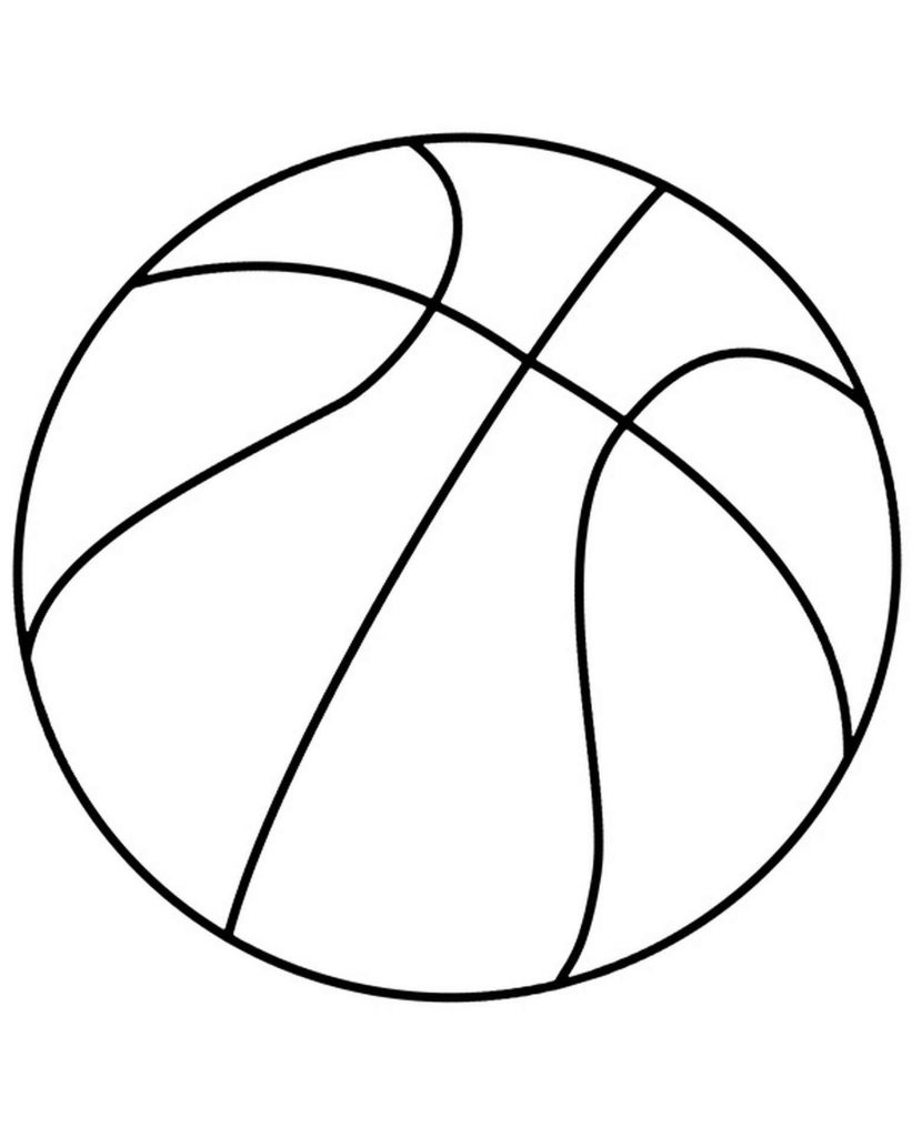 Simple Basketball Ball Coloring Page