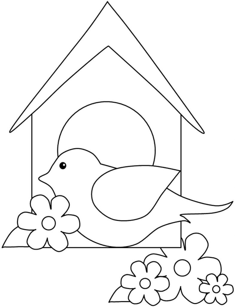 Simple Birdhouse Coloring