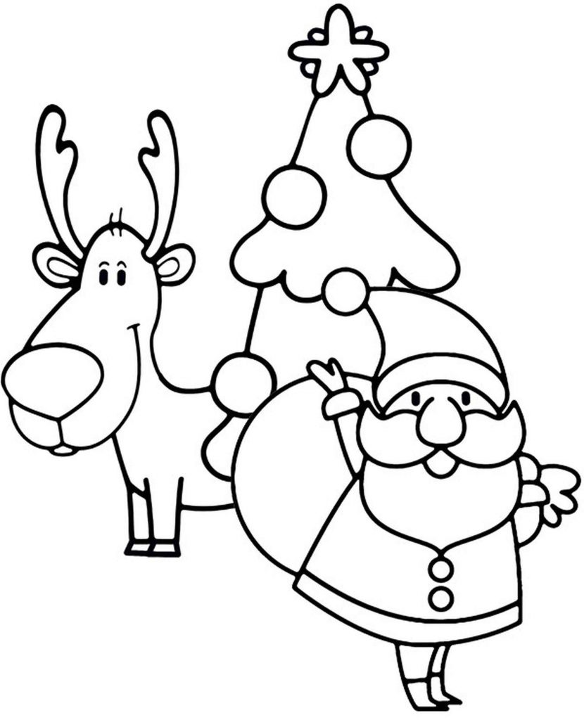 Simple Christmas Coloring Page